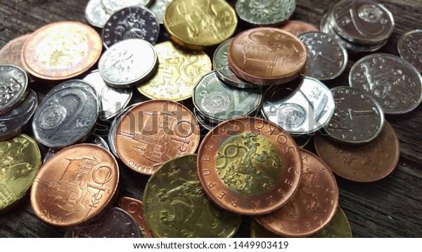 Czech Republic Prague Czech Monetary Currency Stock Photo