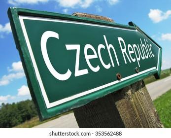 Czech Republic road sign