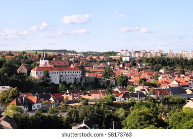 Czech Republic - Trebic, beautiful town listed as UNESCO World Heritage Site. Vysocina region of Moravia.