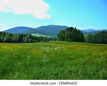 Czech Republic-view of the Giant Mountains from the Slunecna stran near Svoboda nad Upou - Shutterstock ID 1904856652
