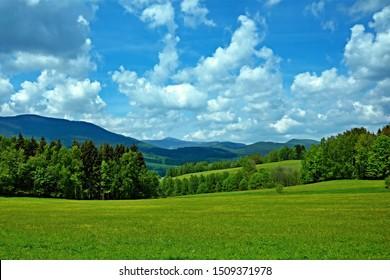 Czech Republic-view of the peak Snezka in the Giant Mountains from the Slunecna stran near Svoboda nad Upou - Shutterstock ID 1509371978