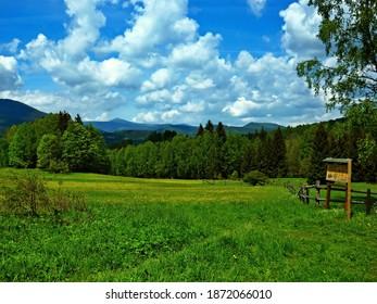 Czech Republic-view of the peak Snezka in the Giant Mountains from the Slunecna stran near Svoboda nad Upou - Shutterstock ID 1872066010