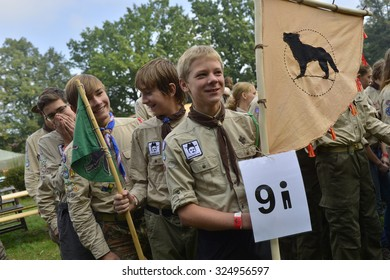 Czech scouts during finaly round of Svojsik race. It is the oldest czech scout race (since 1946).  September 28, 2015; Pribor in Czech republic