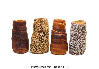 Czech trdelnik isolated on white background
