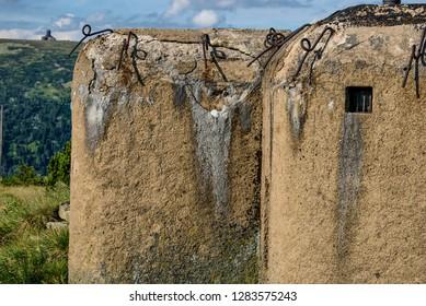 Czechoslovak border fortifications (bunker) - Giant mountains, Krkonose National, Park, Karkonosze