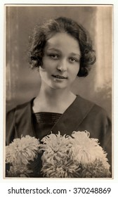 THE CZECHOSLOVAK REPUBLIC - CIRCA 1930s: Vintage photo of a young woman