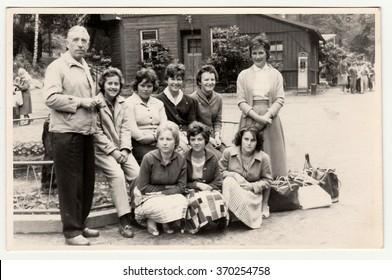 THE CZECHOSLOVAK SOCIALIST REPUBLIC - CIRCA 1970s: Vintage photo shows people on the trip.