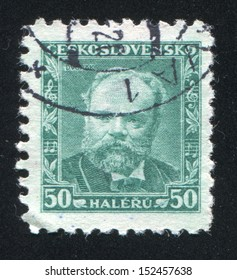 CZECHOSLOVAKIA - CIRCA 1934: stamp printed by Czechoslovakia, shows Antonin Dvorak, Composer, circa 1934