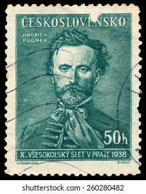 CZECHOSLOVAKIA - CIRCA 1938: Stamp printed in Czechoslovakia shows Jindrich Fugner, Co-Founder of Sokol Movement, circa 1938