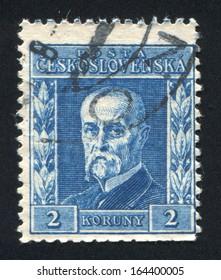 CZECHOSLOVAKIA - CIRCA 1945: stamp printed by Czechoslovakia, shows Masaryk, circa 1945