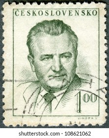 CZECHOSLOVAKIA - CIRCA 1948: A stamp printed in Czechoslovakia shows president Klement Gottwald, circa 1948