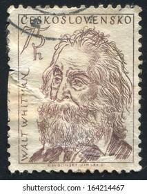 CZECHOSLOVAKIA - CIRCA 1955: stamp printed by Czechoslovakia, shows Walt Whitman, circa 1955