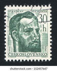 CZECHOSLOVAKIA - CIRCA 1966: stamp printed by Czechoslovakia, shows Stanislav Sucharda, circa 1966