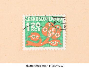 Czechoslovakia - CIRCA 1970: A stamp printed in Czechoslovakia shows it's value, circa 1970