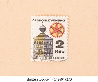 Czechoslovakia - CIRCA 1970: A stamp printed in Czechoslovakia shows a church, circa 1970