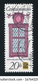 CZECHOSLOVAKIA - CIRCA 1977: stamp printed by Czechoslovakia, shows Renaissance window from Michna Palace in Prague, circa 1977