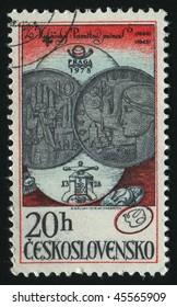 CZECHOSLOVAKIA - CIRCA 1978: 10k Coin, 1964 and 25k Coin, circa 1978.