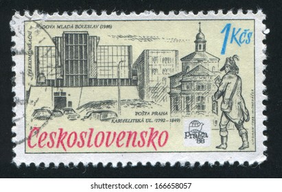 CZECHOSLOVAKIA - CIRCA 1988: stamp printed by Czechoslovakia, shows Telecommunications Centre, circa 1988