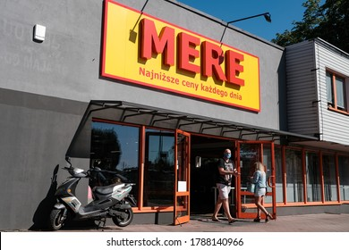 Czestochowa, Poland - 31 July 2020: the first supermarket of the Russian Mere chain store opened in Poland in Czestochowa