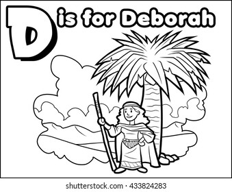 D is for Deborah Coloring Activity