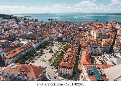 D Joao V square and other well known locations in Lisbon, Portugal