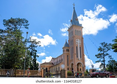 Da Lat Cathedral or the Church of the Chicken is a catholic church in Vietnam. landmark and popular for tourist attractions. Dalat, Vietnam, 6 January 2017