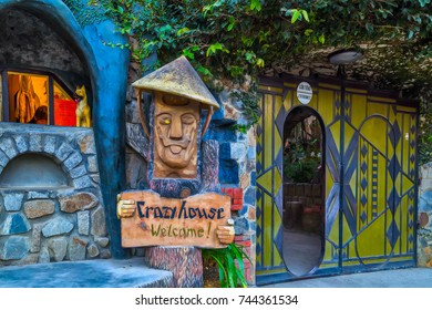 DA LAT CITY, VIETNAM - January 28, 2015: Entry Hang Nga Guesthouse Crazy House, design Interior and Exterior landmark architecture Odd House on January 28, 2015, in Dalat, Vietnam