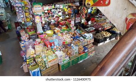Da Lat - Vietnam, 2 May  2018: Dalat market, famous local market in Dalat city, Vietnam