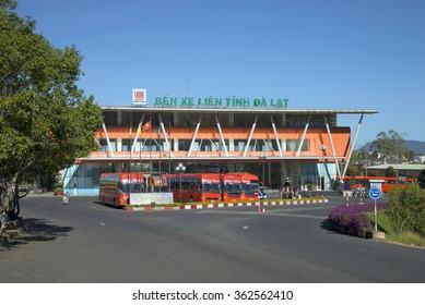 DA LAT, VIETNAM - DECEMBER 28, 2015: New long-distance bus terminal in Dalat