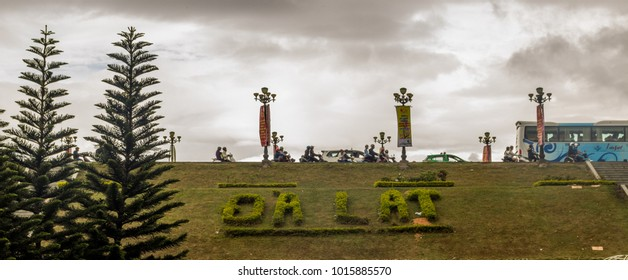 Da Lat / Vietnam - February 3rd 2017: Cloudy day in Da Lat park