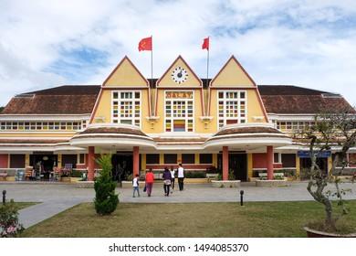 Da Lat, Vietnam - January 5, 2017 : View of Da Lat railway station.