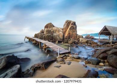 Da nang, Vietnam: Bai Da (rockstone beach) in Da Nang which is a very beautiful destination you must try when coming to Da Nang.