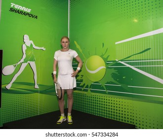 Da Nang, Vietnam - Dec 17, 2016: Maria Sharapova wax statue on display at Ba Na Hills mountain resort.