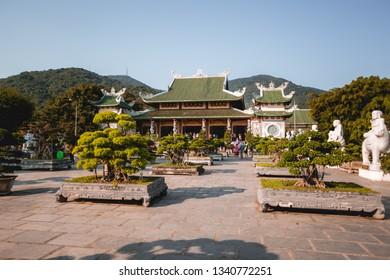 Da Nang, Vietnam - February 26, 2019 : Phap Lam Pagoda at Da Nang in Vietnam
