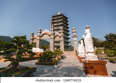 Da Nang, Vietnam - February 26, 2019 : There are many beautiful Statue at Chua Linh Ung Bai But Temple (Lady Buddha Temple)