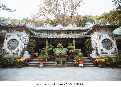 Da Nang, Vietnam - February 26, 2019 : a pagoda in Non nuoc pagoda complex in Danang, Vietnam