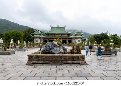 Da Nang, Vietnam ; JAN. 27 '2018, Chua Linh Ung Bai But Temple, the largest pagoda in Da Nang City in both scale and art of architecture. An attractive spiritual tourist destination of Da Nang City.