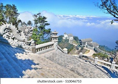 Da Nang, Vietnam - JAN 8, 2014:Castles on the hill. Ba Na Hills, Danang Vietnam