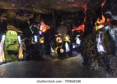 DA NANG, VIETNAM - JUL 16, 2017 -  Crystal Cave at Ba Na Hills, Da Nang city,Vietnam