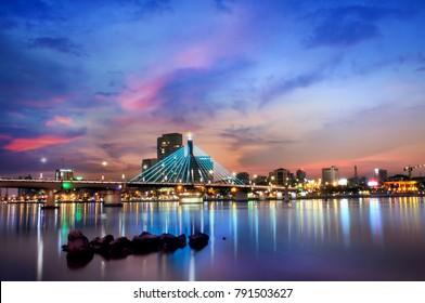 Da Nang, Vietnam: This photo show you how beautiful of Da Nang city at sunset.