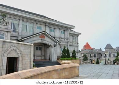 DA NANG,VIETNAM - November 20:  Landscape of castles at Bana hill in Da nang on November 20 ,2015, at Bana hill in ,Da nang,Vietnam.
