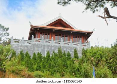 DA NANG,VIETNAM - November 20:  temple at Bana hill in Da nang on November 20 ,2015, at Bana hill in ,Da nang,Vietnam.