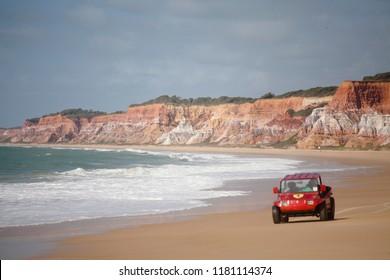 Jequiá da Praia, Alagoas / Brazil - 09/11/2015: Cliffs of Azeda Lagoon Beach - south coast of Alagoas