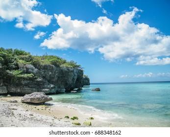 Daaibooi beach in Curacao, Dutch Caribbean