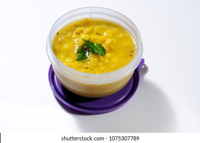 Daal in air tight lunch box
