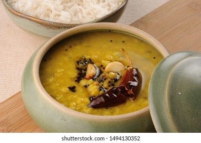 Daal tadka (yellow daal or Toor daal} with Basmati ruce - Shutterstock ID 1494130352
