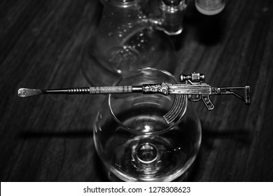 Dab Life AK-47 Dabbing Tool New Years Cannabis Concentrates Celebratory Smoke Session.