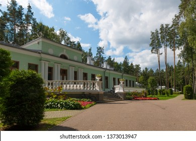 Dacha of Joseph Stalin in Valdai on a summer day. The building was built in 1939