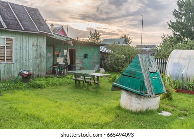 """Dacha"" Typical garden area of 60 square meters of residents of St. Petersburg - representatives of the middle class."