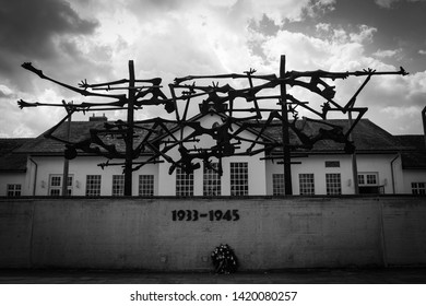 Dachau, Bavaria / Germany - July 18 2016:  A memorial at the concentration camp